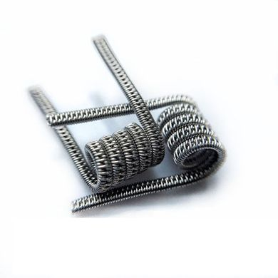 Staggered Fused Clapton Coil (Ka 2x0,4 + Nich 0,2) + Nich 0,2 | 5 витков | d=2,5 мм